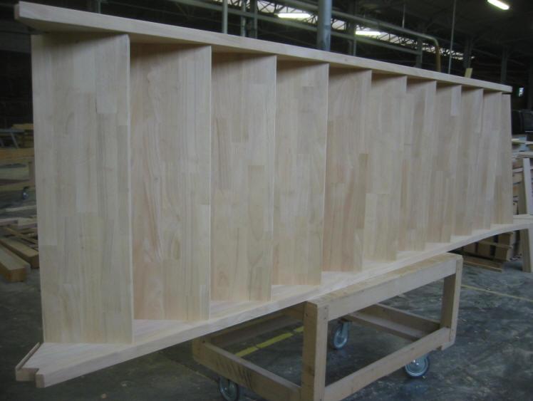 Badkamer open kast badkamer db hardwoods Rubberwood Verlijmde panelen